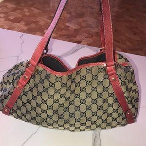 Authentic Gucci Monogram Hobo Bag